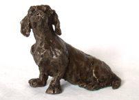 Dachshund, Bronze, 10 x 15cms