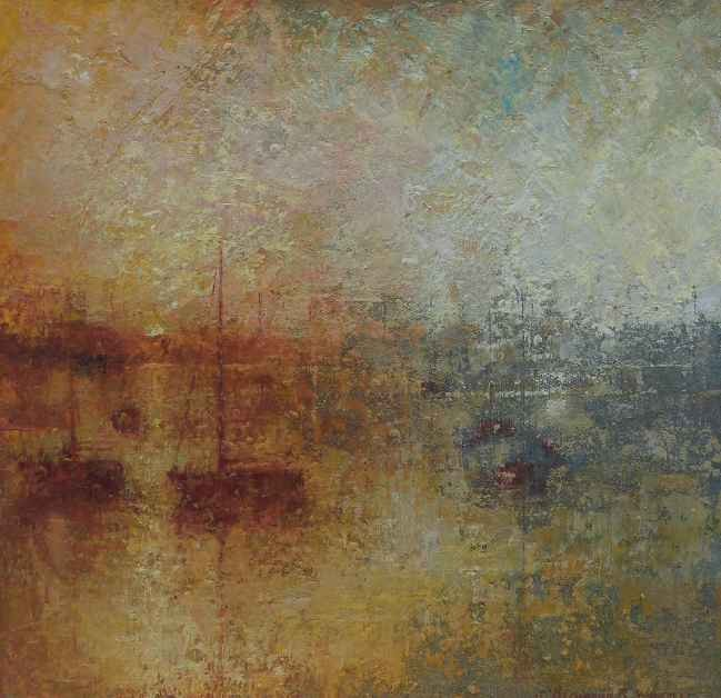 http://www.nadiawaterfieldfineart.com/wp-content/uploads/2016/04/itemsfs_30509.jpg Light, Carrick Road, Oil on Board, 26 x 25 cms