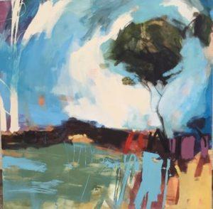 Cornish Landscape, Oil on Board