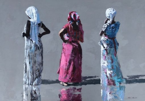 Patrick Gibbs, Three Women on the Beach, Gambia 1