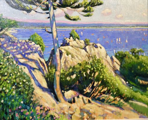 Terence Clark, The Single Pine and Rocks above Theoule sur Mer 1