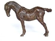 Stretching Horse, Bronze, 22 x 29 cms