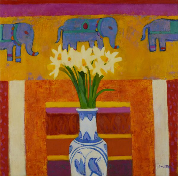 Elephants and Daffodils 1