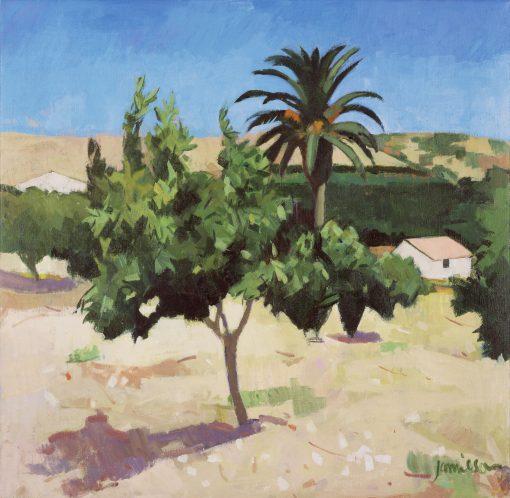 Orange Tree & Palm 1