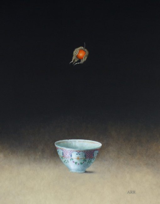Small Oriental Bowl with Falling Physalis 1