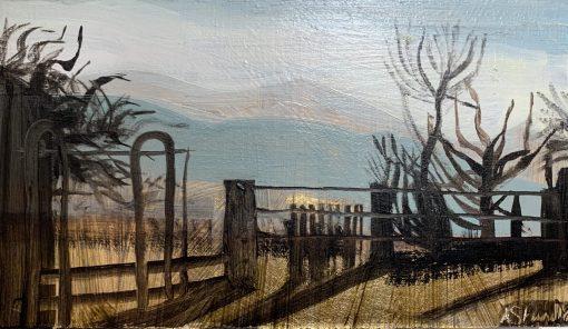 Winter Farmyard, Dusk 1