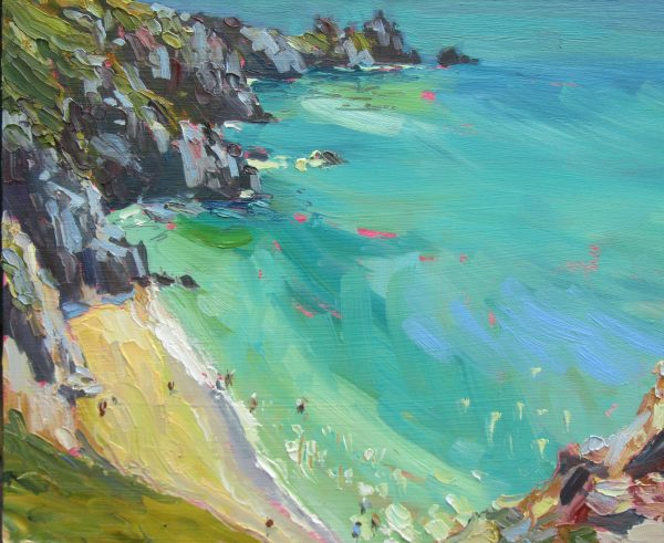 Porthcurno, a Dip in the Water 1