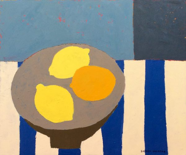 Lemons on Blue Stripe 1