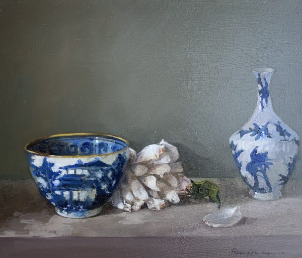 Blue China, White Rose 1