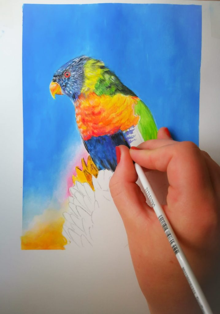 Watercolours - Painting Birds in the Jungle (children's workshop) 1