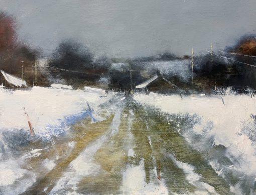 Farm over the Fields, Cornish Winter 1