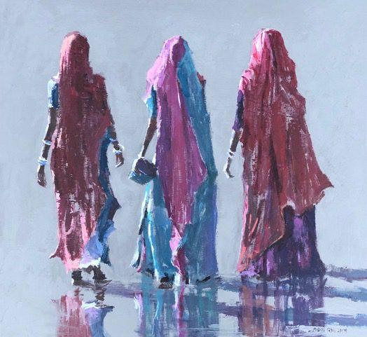 Women Walking, Gujarat 1