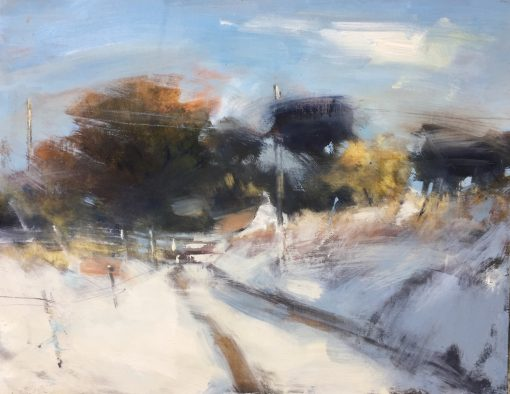 Hannah Woodman, Sun on Fresh Snow, Cornwall 1