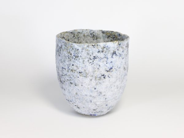 White Pinch Pot with Cobalt 1