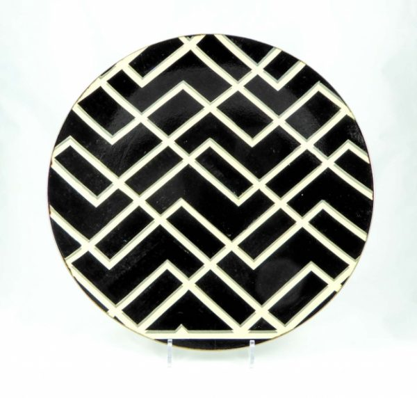 Black & White Zig Zag Bowl 1