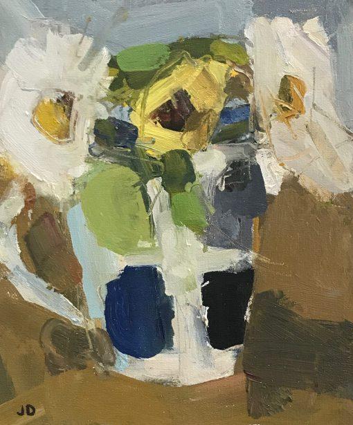 John Dobbs, Ox Eyed Daisies & Sunflower 1