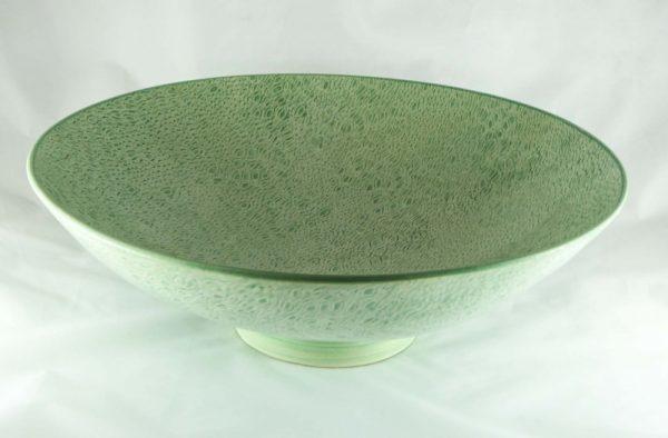 Apple Green Textured Deep Bowl 1