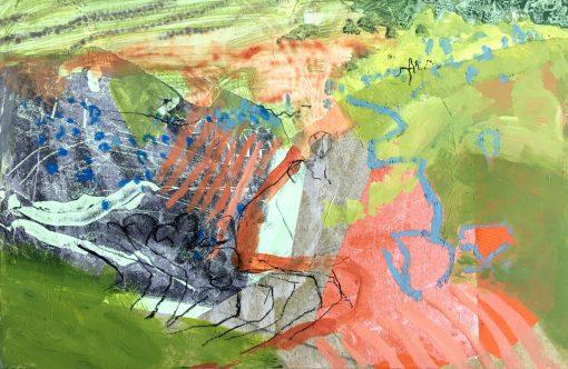 Nicky Basford, Umbrian Landscape, Orange 1