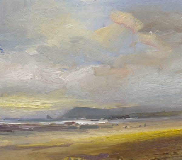 David Atkins, Constantine beach on an Autumn evening 1