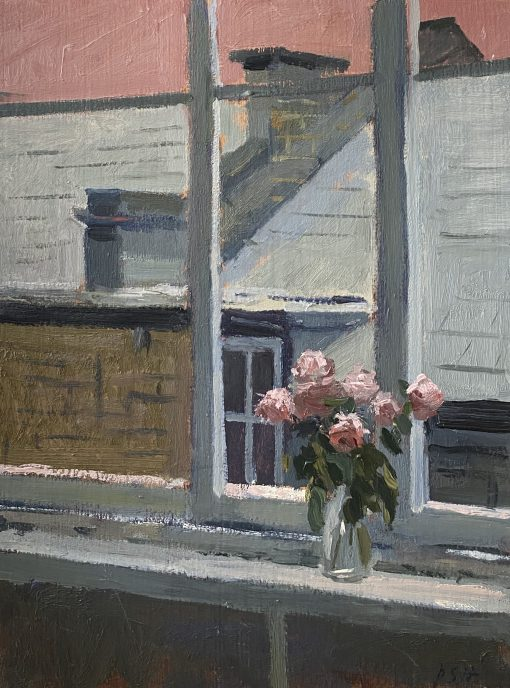 Daisy Sims-Hilditch, Flowers on the Studio Windowsill 1
