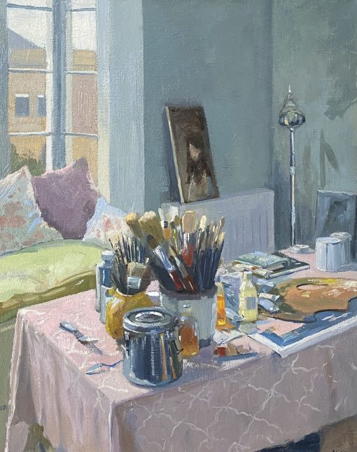 Daisy Sims-Hilditch, Studio Interior with Sorolla Poster 1