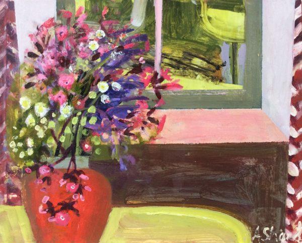 Arabella Shand, Flowers in Creamware Jug 1