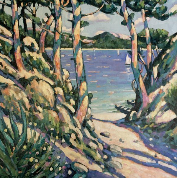 Terence Clark, Sunlit Pines, near Port D'Olon 1