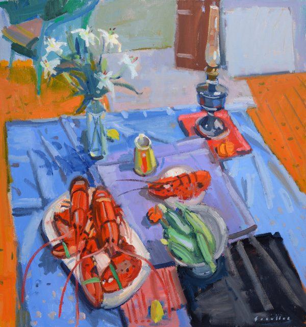 Glen Scouller, Lobsters & Lillies 1