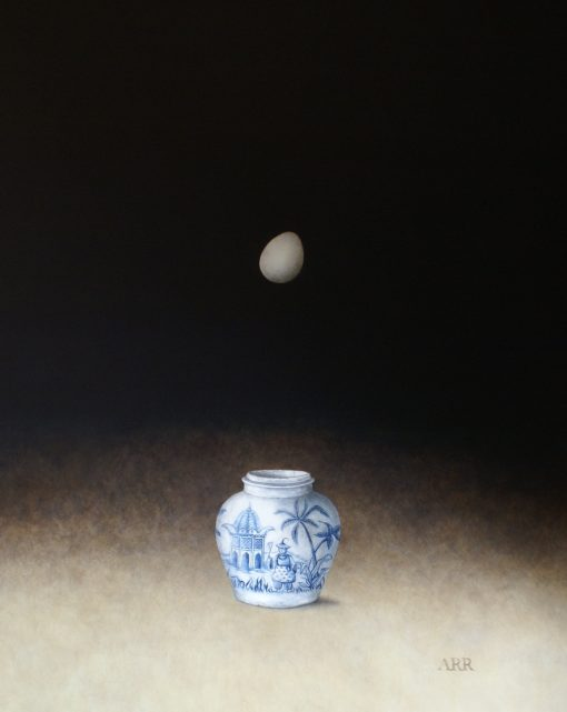 Alison Rankin, Palm Tree Jar  with Falling Egg 1