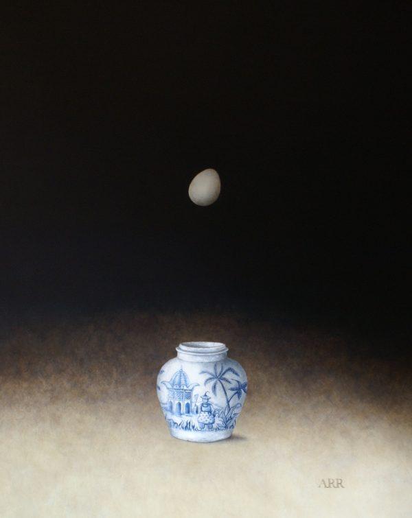 Alison Rankin, Palm Tree Jar  with Falling Egg 1