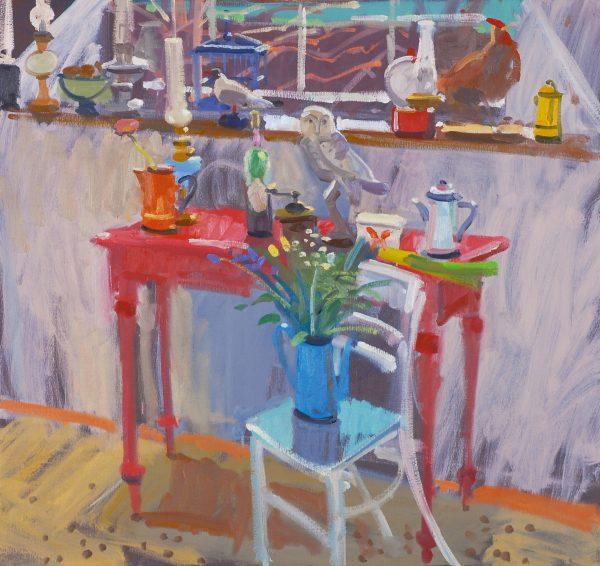 Glen Scouller, Red Table Still Life 1