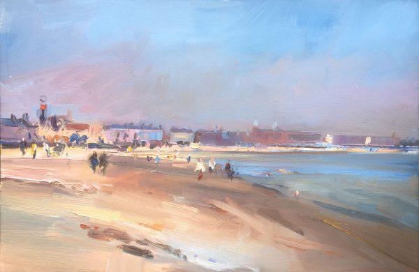 David Atkins, Spring Day on Weymouth Beach 1