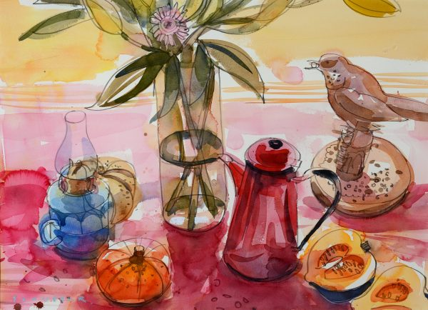 Glen Scouller, The Red Coffee Pot 1