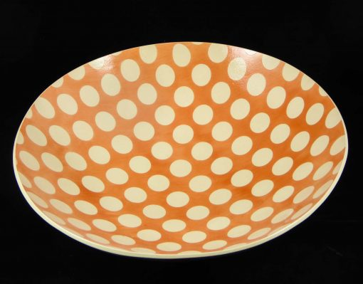 David Gee, Pink Spotty deep bowl 1