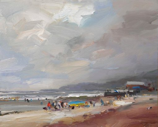 David Atkins, A Breezy day Charmouth 1