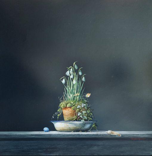 Bryan Hanlon, Snowdrops & Quail Egg 1