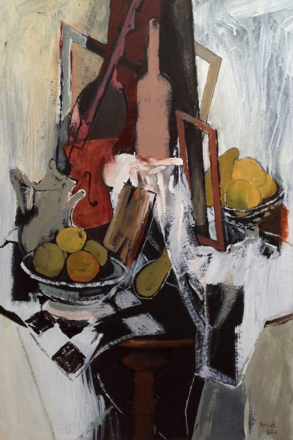 Margaret Devitt, Still Life with a White Table Cloth 1
