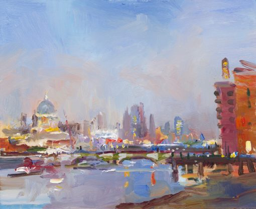 David Atkins, View from Southbank, Evening 1