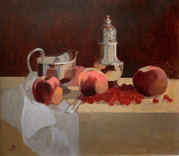 Jenny Sutton, Peaches, Redcurrants & Silver 1