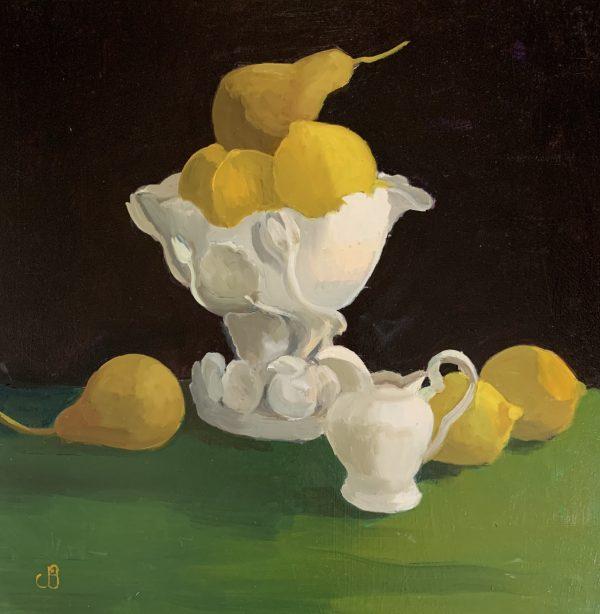 Jenny Sutton, Yellow, Green & White 1