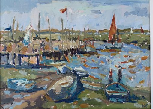 Emily Faludy, Receeding Tide at Morston Quay 1