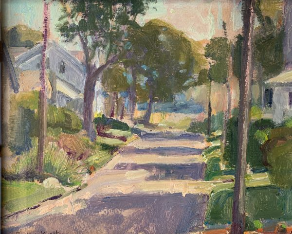 Frances Knight, Road with Shadows & Trees 1