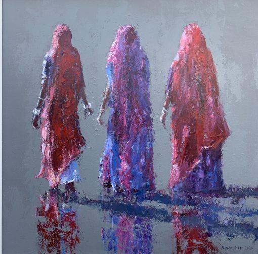 Patrick Gibbs, Women Walking, Gujarat, India 1
