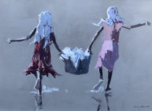 Patrick Gibbs, Children carrying Basket 1