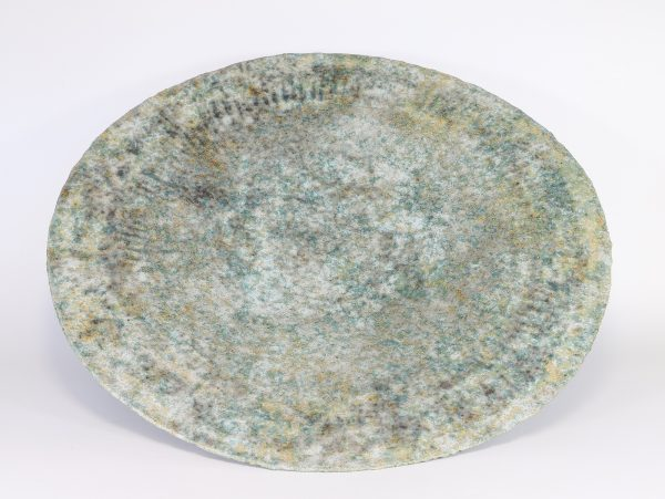 Claire Lardner Burke, Large Green Bowl with Copper 1