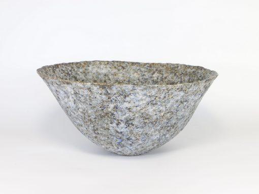 Claire Lardner Burke, Blue Bronze Bowl with Manganese (006) 1