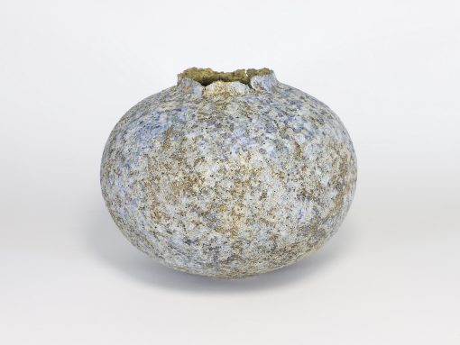 Claire Lardner Burke, Bronze & Pale Blue Pod with Manganese (010) 1