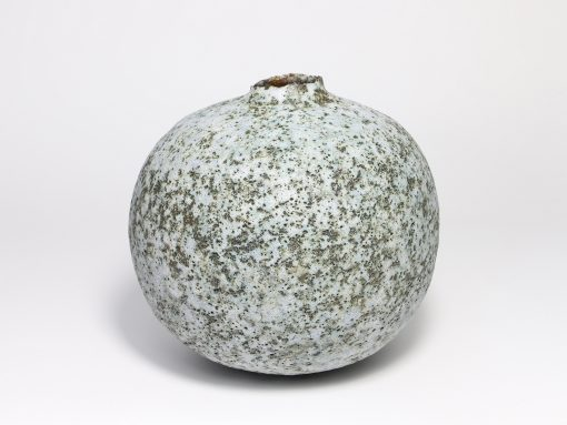 Claire Lardner Burke, Speckled Teal Pod with Chrome (012) 1