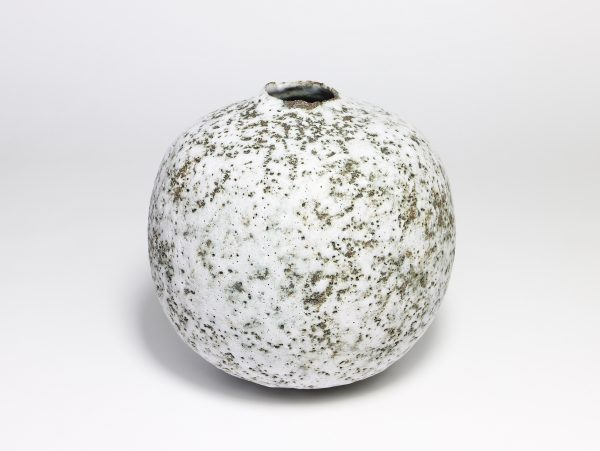 Claire Lardner Burke, Speckled White Pod with Chrome 1