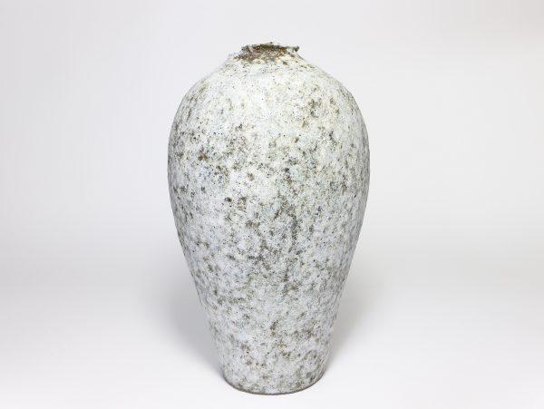 Claire Lardner Burke, Pale Grey Vase with Chrome 1